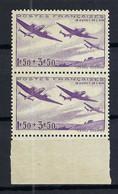 FRANCE Poste Aérienne 1934: Le Y&T 7 En Paire BDF Neufs**, Forte Cote - 1927-1959 Postfris