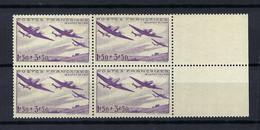 FRANCE Poste Aérienne 1934: Le Y&T 7 En Bloc De 4 BDF Neufs**, Forte Cote - 1927-1959 Postfris
