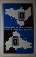 Petit Calendrier Poche 1981 Banque Nationale De Paris BNP Pays De Loire Bretagne - Format Carte Bleue - Small : 1981-90