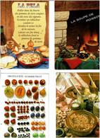 RECETTES CUISINE - GASTROMIE / Lot De 80 C.P.M. écrites - 5 - 99 Postcards