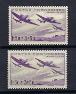 FRANCE Poste Aérienne 1934: Le Y&T 7 Neuf**, 2 Nuances - 1927-1959 Postfris