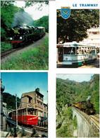 TRAINS / Lot De 69 C.P.M. écrites - 5 - 99 Postcards