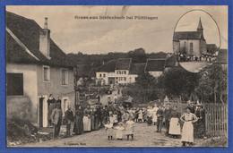 ***TRES RARE CPA 57 Gruss Aus DIEFENBACH BEI PUTTLINGEN (Diefenbach-lès-Puttelange, Rattaché à Puttelange-aux-Lacs) - Autres Communes