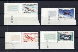FRANCE Poste Aérienne 1954: Les Y&T 30-33 CDF (coins Datés), Neufs**, Forte Cote - 1927-1959 Postfris