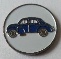 Jeton De Caddie - Automobiles - RENAULT 4 CV - Bleue - En Métal - Neuf - - Einkaufswagen-Chips (EKW)