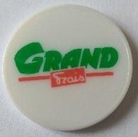 Jeton De Caddie - Magasin Grand Frais - En Plastique - Neuf - - Einkaufswagen-Chips (EKW)