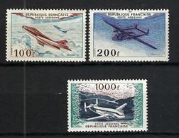 FRANCE Poste Aérienne 1954: Les Y&T 30-31,33, Neufs**, Forte Cote - 1927-1959 Postfris