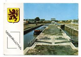 COURCHELETTES---1971--Les Nouvelles Ecluses ( Péniche) ...blason...cachet  CAMBRAI-59..........à Saisir - Other Municipalities