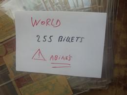 +++WORLD 255 BILLETS ANCIENS Et RECENTS+1 CADEAU+++ TOUT ETATS DONT ABIMER !!!+++en FEUILLES (3 KILOS)(B.24) - Vrac - Billets
