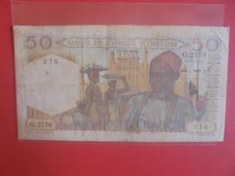 Afrique De L'Ouest Française 50 FRANCS 1948 Circuler (B.24) - West African States