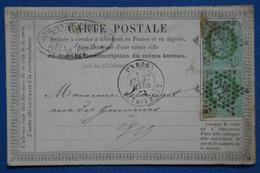 AB3 FRANCE BELLE CARTE  1875 ETOILE DE PARIS N 22  SUR PAIRE DE TP  + AFFRANCH. INTERESSANT - 1871-1875 Ceres