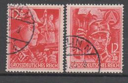 Deutsches Reich - Drittes Reich , Nr 909-10 , Sicherlich Falschstempel , Ungeprüft , Lückenfüller - Oblitérés