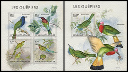 TOGO 2021 - Bee-eaters, M/S + S/S. Official Issue [TG210318] - Ohne Zuordnung