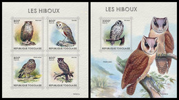 TOGO 2021 - Owls, M/S + S/S. Official Issue [TG210317] - Ohne Zuordnung