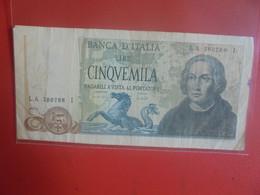 ITALIE 5000 LIRE 1971-77 Circuler (B.24) - 5000 Lire