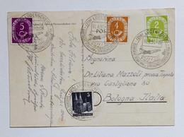 """Cartolina Illustrata Lüdenscheid """"Deutsche Schwimm Und Springmeisterschaften"""" Viaggiata Per Bologna 11/08/1951 - Lettres & Documents"""