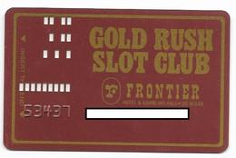 Frontier Hotel & Gambling Hall, Las Vegas, NV, U.S.A., Older Used Slot Or Player's Card,  # Frontier-2 - Casinokarten