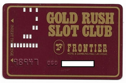 Frontier Hotel & Gambling Hall, Las Vegas, NV, U.S.A., Older Used Slot Or Player's Card,  # Frontier-3 - Casinokarten