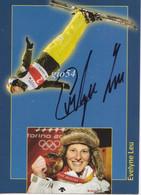 """Ski Freestyle """"evelyne Leu"""" Autografo Schweizermeisterin 1995,2001,2003,2004,2005,2006 Fg No Cp Biglietto Pubblicità - Winter Sports"""