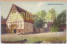 Westfälisches Bauernhaus, Westfalenhaus, Westfalen, 1913 - Non Classificati