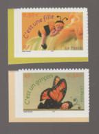 FRANCE / 2004 / Y&T N° 3634/3635 ** Ou AA 40/41 ** : Naissance (fille & Garçon Adhésifs) X 1 Paire Tous BdC - KlebeBriefmarken