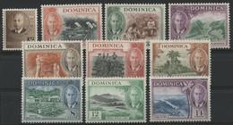 LA DOMINIQUE N° 117 à 126 ** (MNH) ENSEMBLE DE 10 VALEURS. TB/VF - Dominica (...-1978)