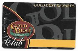 Gold Dust Casino, Deadwood, SD, U.S.A. Older Used  BLANK Slot Or Player's Card, # Golddust-2blank - Casinokarten