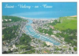 76 - Saint Valéry En Caux - Vue Générale Aérienne Et Le Port - Saint Valery En Caux