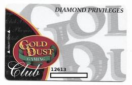 Gold Dust Casino, Deadwood, SD, U.S.A. Older Used  Slot Or Player's Card, # Golddust-3 - Casinokarten