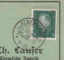 Deutsches Reich Karte Mit Tagesstempel Eckersdorf Kr Namslau 1930 Kreis Namslau RB Breslau Schlesien KOS Stempel - Briefe U. Dokumente