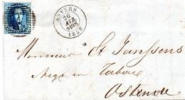 N° 7 Sur LAC D'Anvers Vers Ostende - 1851-1857 Medallions (6/8)