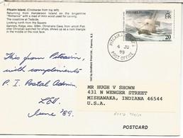 PITCAIRN ISLANDS TP 1989  SELLO HMS BOUNTY VELERO TALL SHIP - Pitcairneilanden