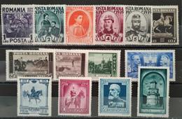 ROUMANIE - 1939 Série N° 552/565 * (voir Scan) - Unused Stamps