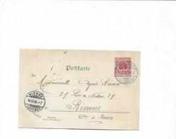 Karte Aus Strassburg In Die Schweiz 1899 - Storia Postale