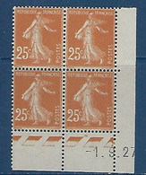 "FR Coins Datés YT 235 "" Semeuse 25c. Jaune-brun "" Neuf** Du 1.9.27 - ....-1929"