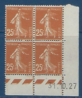 "FR Coins Datés YT 235 "" Semeuse 25c. Jaune-brun "" Neuf** Du 31.10.27 - ....-1929"