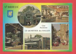 C.P.M.( 22 ) « SAINT-BRIEUC »  Jolie Multi-Vues Générales;Le Quartier Des Halles Près De La Cathédrale   X2 Phts - Saint-Brieuc