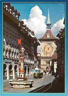 Trains - Tramways - Suisse - Berne - La Fontaine De L'Archer Et La Tour De L'Horloge - CPM - Voir Scans Recto-Verso - Tramways