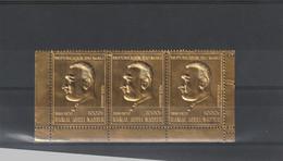 Mali - Yvert PA 113 X 3 **  - Or - Gamal Abdel Nasser - Une Tache Sur L'exemplaire De Droite - Malí (1959-...)