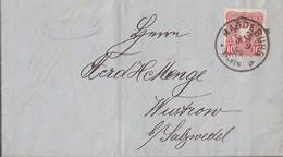 DR Brief EF Minr.41 K1 Magdeburg 3.9.89 Gel. Nach R3 Wustrow In Hannover 4.9.89 - Storia Postale