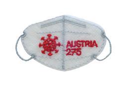 Austria - 2021 - Mini FFP2 Mask - Covid-19 - Mint Embroidered Stamp With Laser Die-cut - 2011-... Ungebraucht