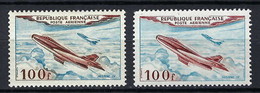 FRANCE Poste Aérienne 1954: Les Y&T 30, Neufs**, 2 Nuances - 1927-1959 Postfris