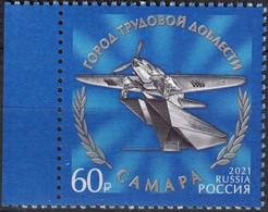 Russia, 2021, Mi. 3035-38, Cities Of Labor Valor, Samara, The Il-2 Attack Aircraft, MNH - Flugzeuge
