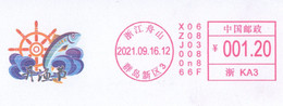 China Zhoushan Postage Machine Meter FDC: China Fishing Festival - Lettres & Documents