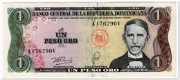 DOMINICAN REPUBLIC,1 PESO OROR,1978-79,P.116,XF - Sonstige – Amerika