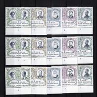 BELGIQUE BELGIE  1978/82 XX MNH  NUMEROS PLANCHE 1 2  3  Serie Complete - 1971-1980