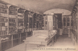 CP MONTJOYER - DROME 26 - ABBAYE D'AIGUEBELLE - LA BIBLIOTHEQUE - Altri Comuni