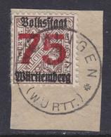 Württemberg MiNr. 271X Gest. Briefstück Gepr. - Wurtemberg