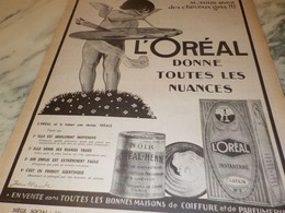 ANCIENNE PUBLICITE DONNE TOUTES LES NUANCES  L OREAL 1921 - Altri
