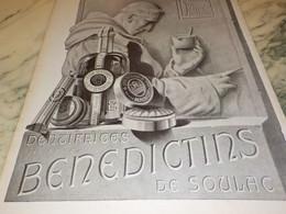 ANCIENNE PUBLICITE  DENTIFRICE BENEDICTINS DE SOULAC  1927 - Altri